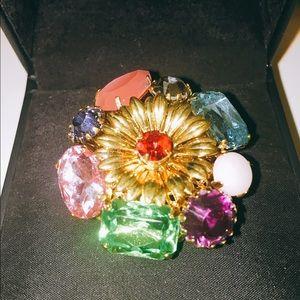 Precious Stones Flower Erickson Beamon Ring